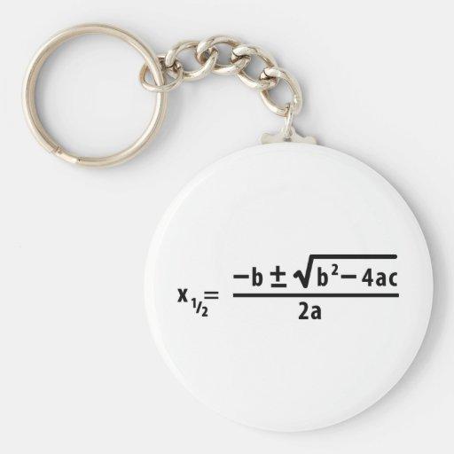 quadratic formula key chain