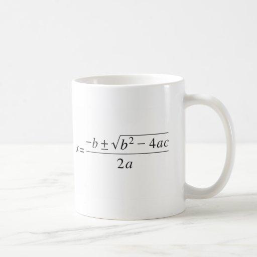 quadratic formula coffee mugs