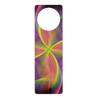 Quadratic rainbow door knob hanger