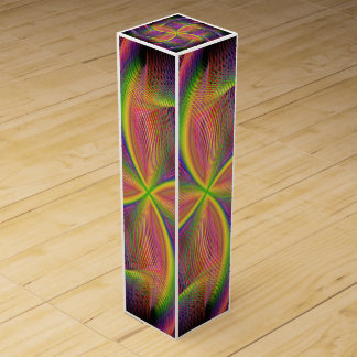 Quadratic rainbow wine gift box