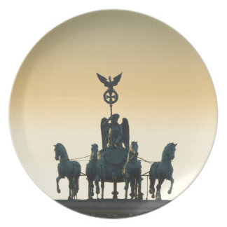Quadriga Brandenburg Gate 001, Berlin Plate