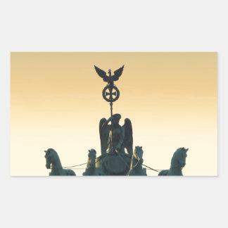 Quadriga Brandenburg Gate 001, Berlin Rectangular Sticker