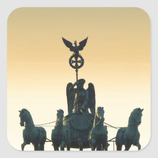 Quadriga Brandenburg Gate 001, Berlin Square Sticker