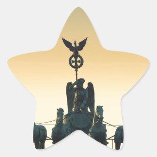 Quadriga Brandenburg Gate 001, Berlin Star Sticker