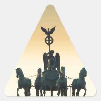 Quadriga Brandenburg Gate 001, Berlin Triangle Sticker