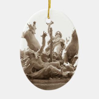 Quadriga in Paris, France Ceramic Oval Decoration