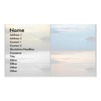 Quadriptych seascape at sunset pack of standard business cards