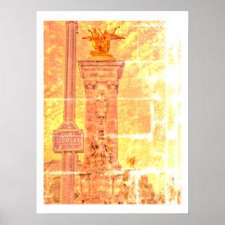 Quai d'Orsay Pont Alexandre III Paris Poster