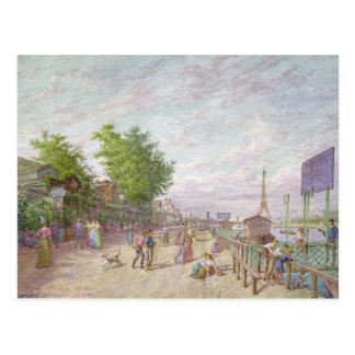 Quai du Point du Jour, Boulogne Billancourt, 1897 Postcard