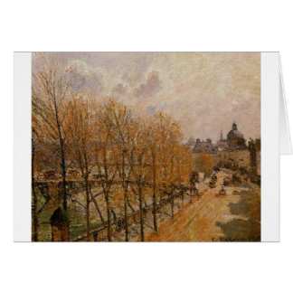 Quai Malaquais, Morning by Camille Pissarro Card
