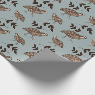 Quail and Sprig Gift Wrap
