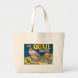 Quail Brand Contra Costa Bartletts Jumbo Tote Bag