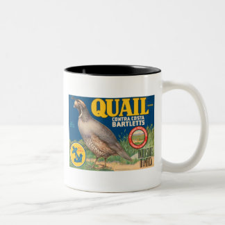 Quail Brand Contra Costa Bartletts Vintage Crate L Two-Tone Mug