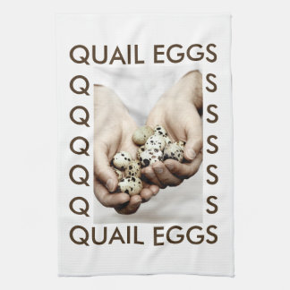 Quail Eggs Photograph Tea Towel