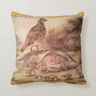 Quail Family Pillow
