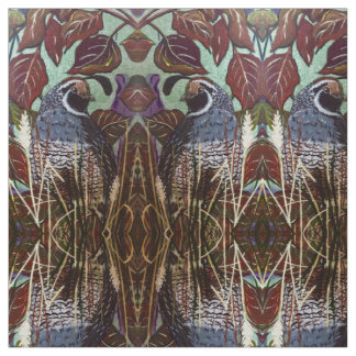 Quail in Grass Fabric