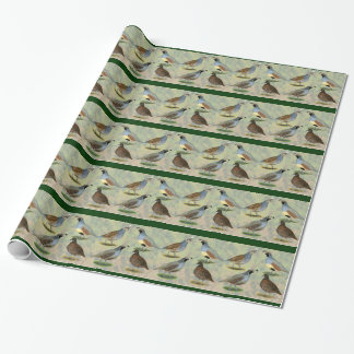 Quail Quartet Wrapping Paper