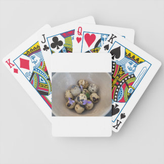 Quails eggs & flowers 7533 bicycle playing cards
