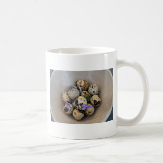 Quails eggs & flowers 7533 coffee mug