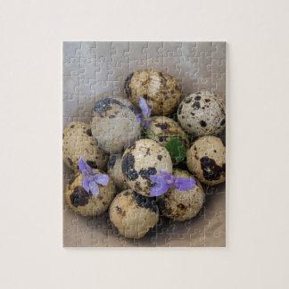 Quails eggs & flowers 7533 jigsaw puzzle