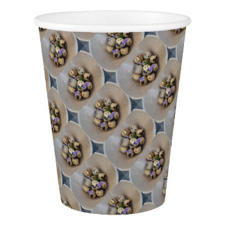 Quails eggs & flowers 7533 paper cup