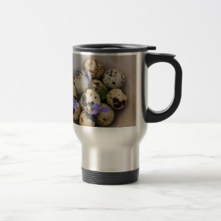 Quails eggs & flowers 7533 travel mug