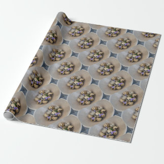 Quails eggs & flowers 7533 wrapping paper