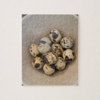Quails eggs in a bowl jigsaw puzzle