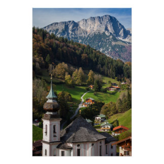 Quaint bavarian village, Germany Poster