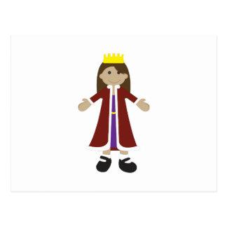 Quaint Queen Rag Doll Postcard