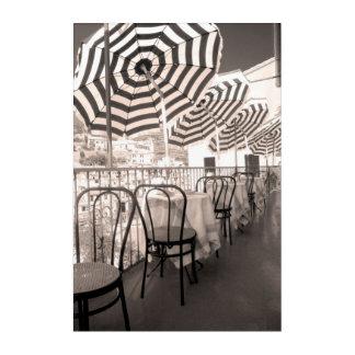 Quaint restaurant balcony, Italy Acrylic Wall Art