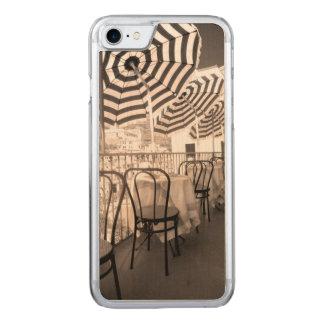 Quaint restaurant balcony, Italy Carved iPhone 7 Case