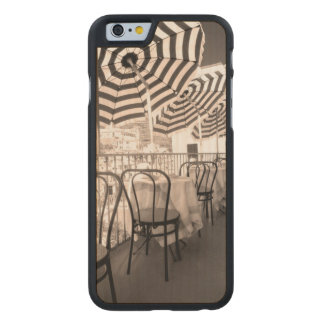 Quaint restaurant balcony, Italy Carved Maple iPhone 6 Case