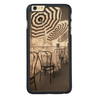 Quaint restaurant balcony, Italy Carved Maple iPhone 6 Plus Case