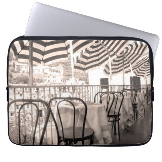 Quaint restaurant balcony, Italy Laptop Sleeve