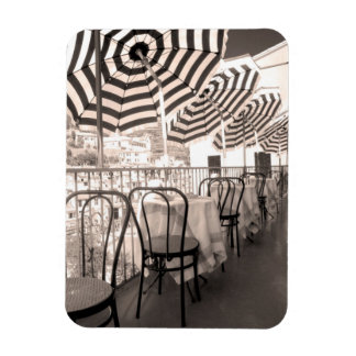 Quaint restaurant balcony, Italy Rectangular Photo Magnet