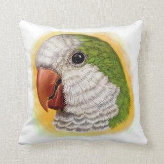 Quaker parrot realistic painting cushion