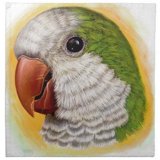 Quaker parrot realistic painting napkin