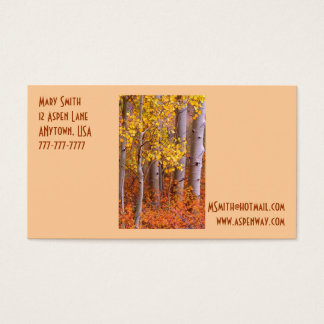 Quaking Aspen in Autumn Business Card