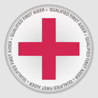 Qualified First Aider Medical Aid Classic Round Sticker