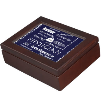 Qualities of a Good Physician-Personalize Keepsake Box