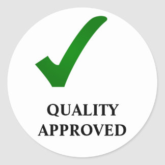QUALITY APPROVED ROUND STICKER