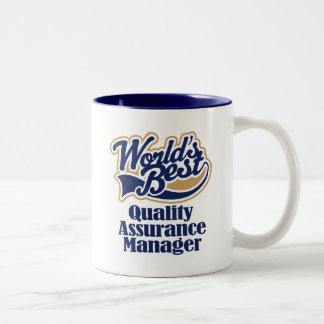 Quality Assurance Manager Gift Two-Tone Mug