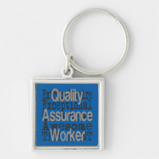 Quality Assurance Worker Exrtraordinaire.gif Key Ring