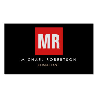 Quality Black Red Monogram Unique Pack Of Standard Business Cards
