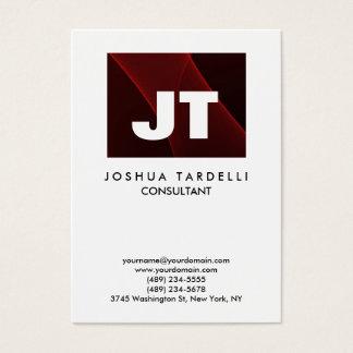 Quality Brown Red & White Monogram Unique Modern