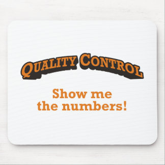 Quality Control / Numbers Mouse Pad