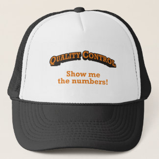 Quality Control / Numbers Trucker Hat