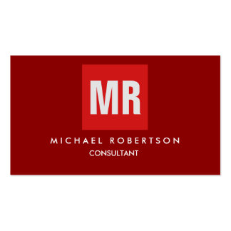Quality Dark Red Monogram Unique Pack Of Standard Business Cards