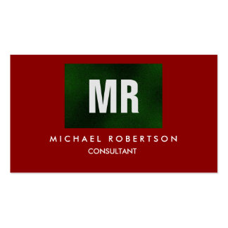 Quality Green Red Monogram Unique Pack Of Standard Business Cards